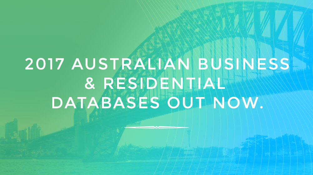 2017 Australian Business & Residential Databases Out Now